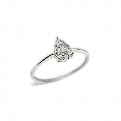 Anillo oro blanco y diamantes Joyeria Jose Luis Joyero Malaga