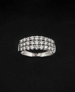 Anillo oro blanco de compromiso con diamantes