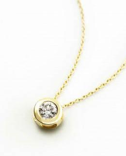 Colgante oro 18 Ktes y diamante chaton con cadena Joyeria Jose Luis Joyero Malaga