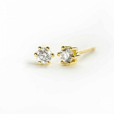 Pendientes oro con diamantes certificados Joyeria Jose Luis Joyero Malaga