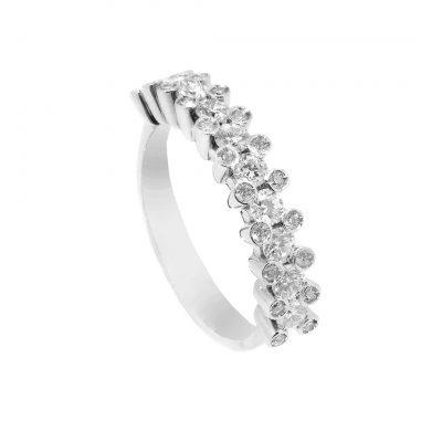 Sortija compromiso oro blanco con diamantes